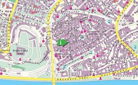 bratislava mapa Bratislava Tourist Service: Mapa Bratislava: Mapa centra Bratislavy bratislava mapa